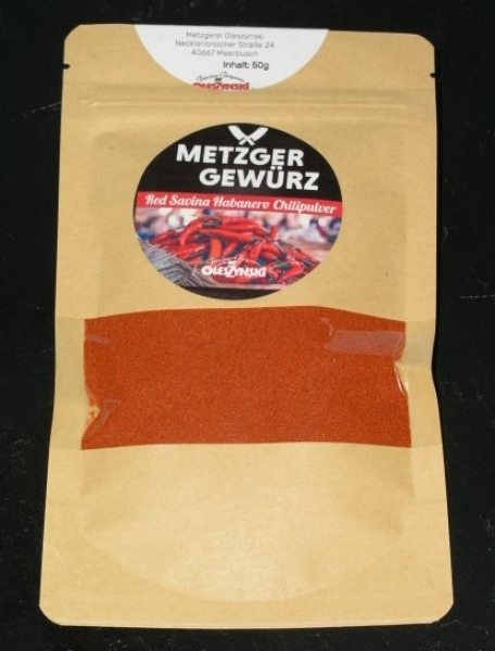 Red Savina Chili Pulver